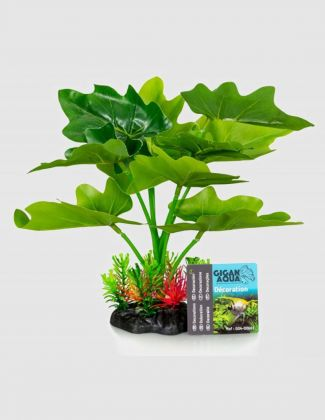 "Plante artificielle ""Philodendron"" 22 cm"