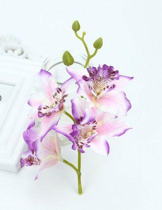 Orchidée artificielle 20cm violet